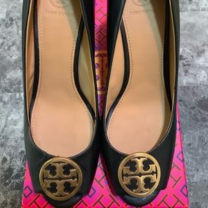 Tory Burch Benton Peep Toe Wedge